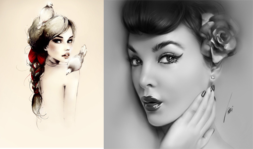 Beautiful Women Drawings